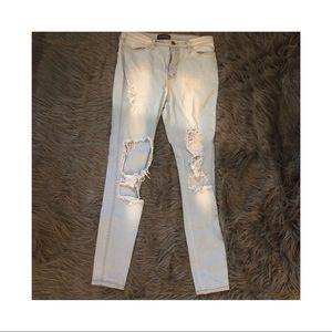 Fashion Nova high waisted light blue jean